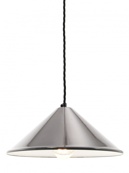 Coolie Grey Enamel Lamp Shade
