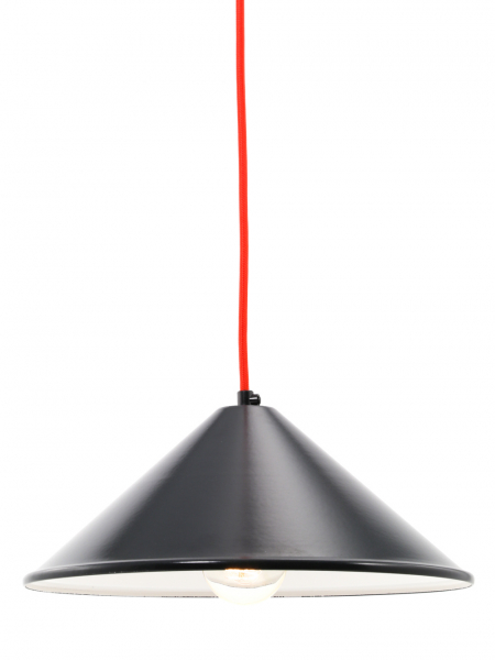 Coolie Matt Black Enamel Lamp Shade