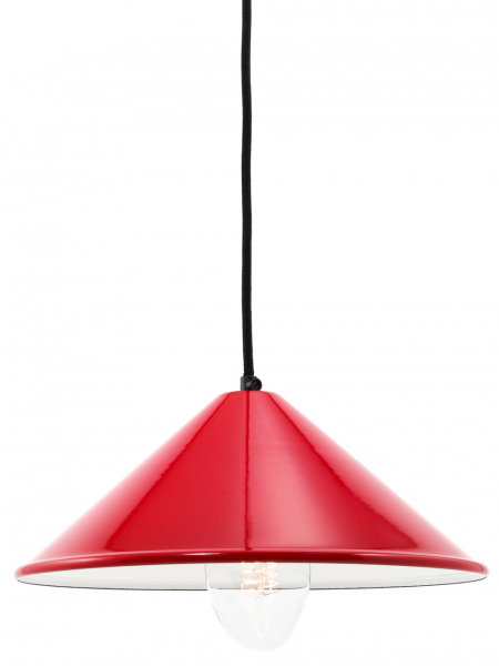 Coolie Red Enamel Lamp Shade