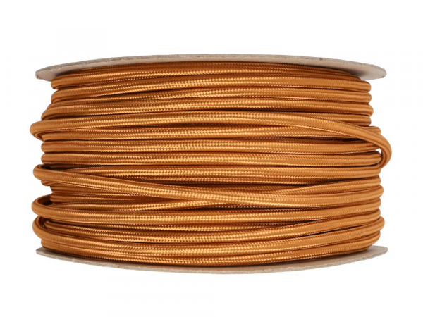 Copper Round Fabric Lighting Cable 3 Core