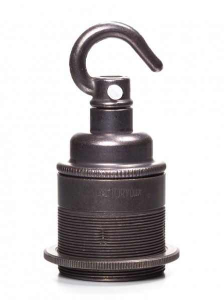 Hooked E27 Lamp Holder Bronze