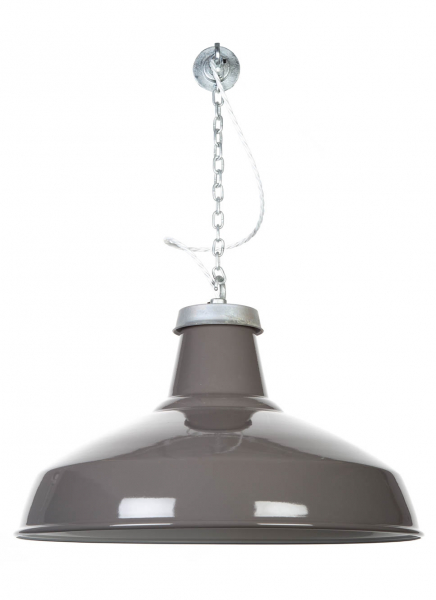 FACTORYUX REFLECTOR XL Grey Pendant Light