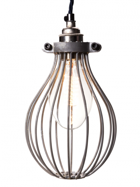 Galvanised Large Balloon Light Bulb Cage