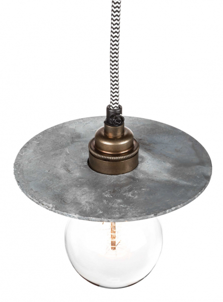 Galvanised Disc Lamp Shades | 158 mm