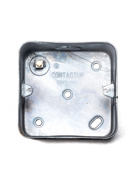 galvanised surface mounted box single