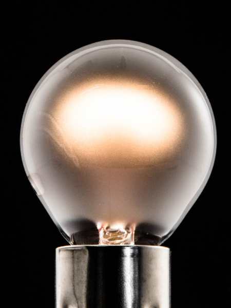 Frosted Mini Globe Tungsten Filament Bulbs E14 & B15 25W