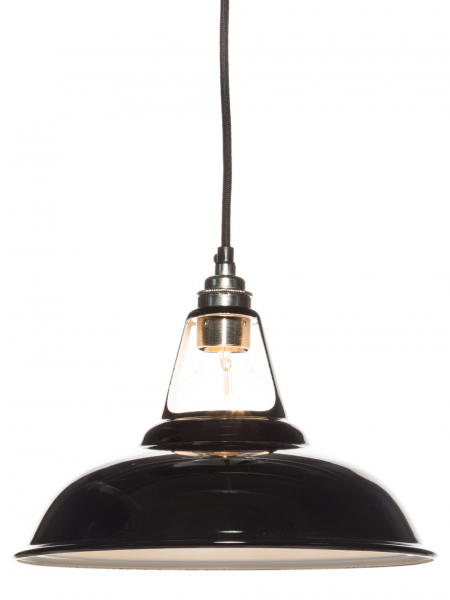 Gloss Black Enamel Coolicon Lamp Shade