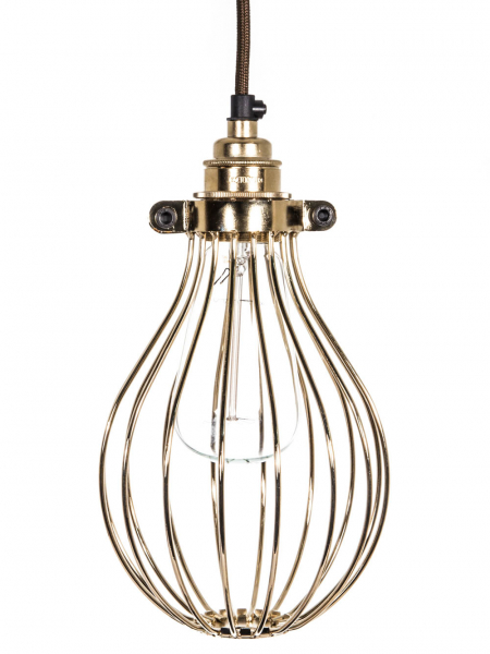 Gold Large Balloon Light Bulb Cage | 140mm