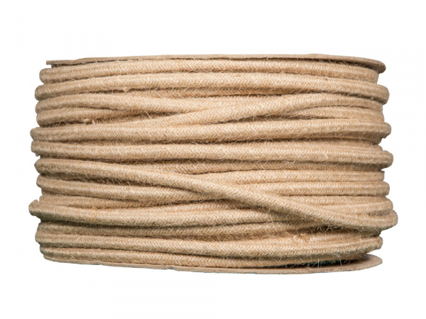 Hessian Fabric Cable Cloth Covered Wire 3 Core Round