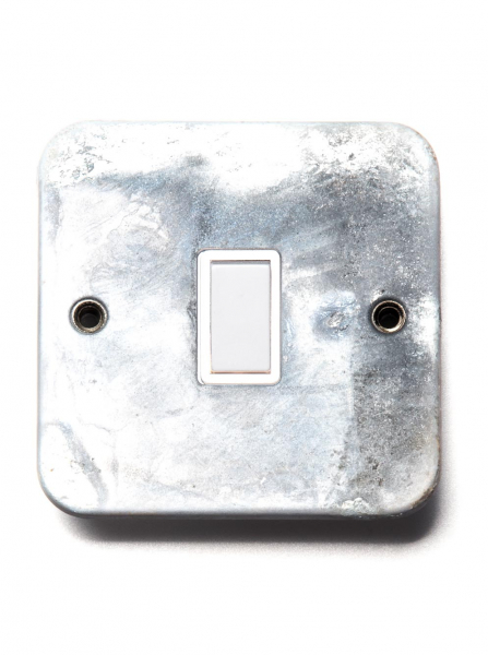 galvanised light switch single switch intermediate