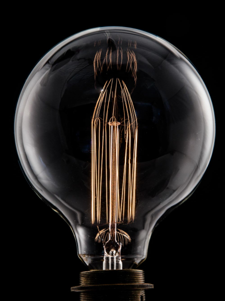 Large Globe Squirrel Cage Filament Bulbs E27 & B22 40W & 60W