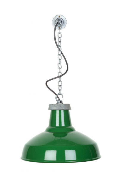 large green reflector pendant light