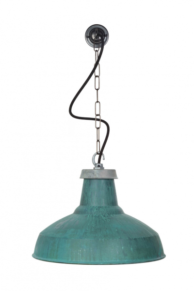 verdigris large reflector pendant light