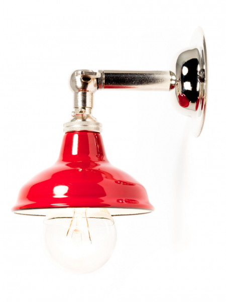 maria sconce wall light silver miniature red shade