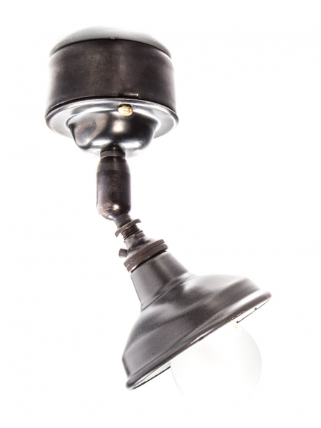 Bronze Maria Spotlight with Pattress Ceiling Light Matt Black Enamel Shade