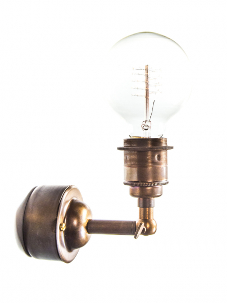 Maria Wall Simple Wall Light with Pattress Brass