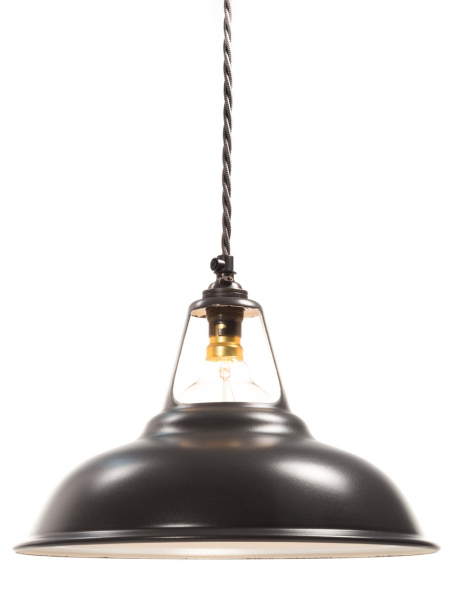 Matt Black Enamel Coolicon Lamp Shade | 280mm | B22