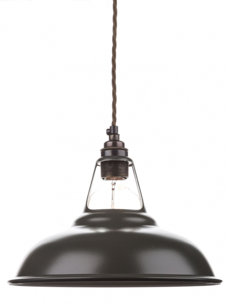 Matt Black Enamel Coolicon Lamp Shade