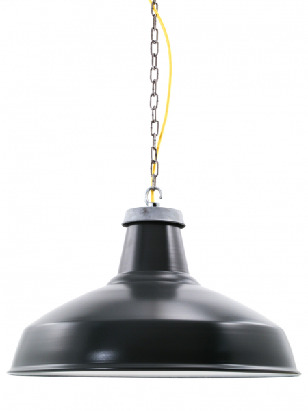 Matt Black Enamel Reflector Lamp Shade 500mm