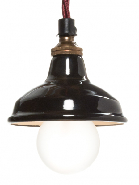Gloss Black Enamel Miniature Lamp Shade 80mm