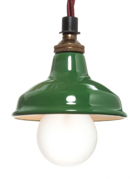 Green Enamel Miniature Lamp Shade 80mm
