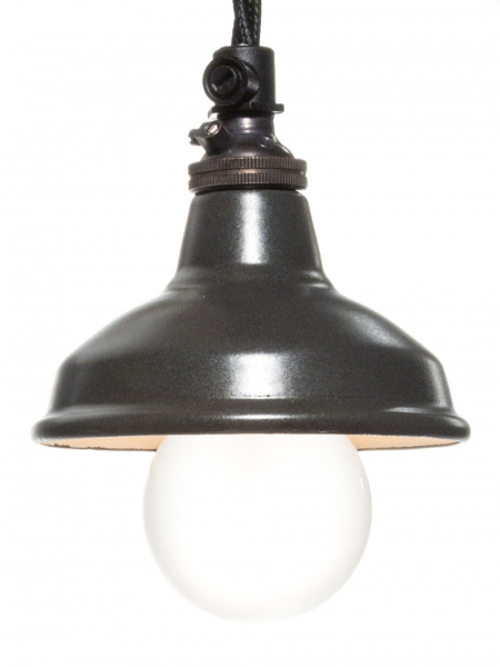 Matt Black Enamel Miniature Lamp Shade