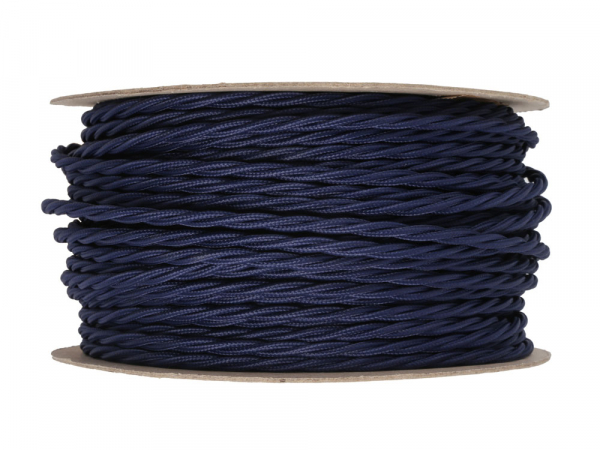 Navy Blue Twisted Lighting Cable 3 Core