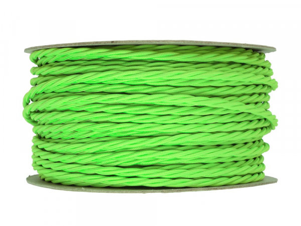 Neon Green Twisted Lighting Cable 3 Core
