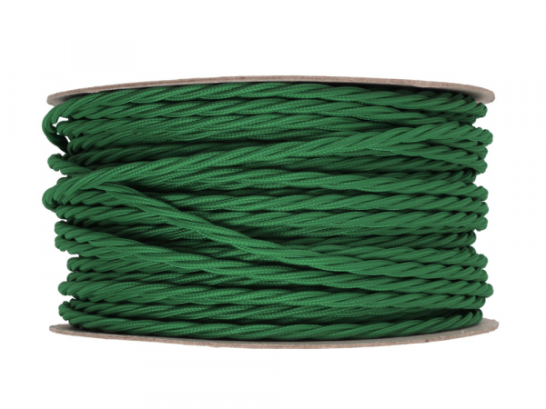 Pea Green Twisted Lighting Cable 3 Core