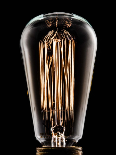 Pear Squirrel Cage Filament Bulbs E27 & B22 40W & 60W