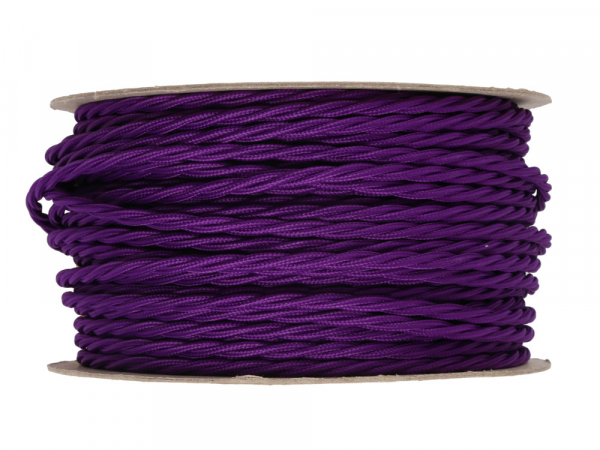 Purple Twisted Lighting Cable 3 Core