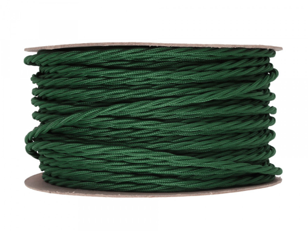 Racing Green Twisted Lighting Cable 3 Core
