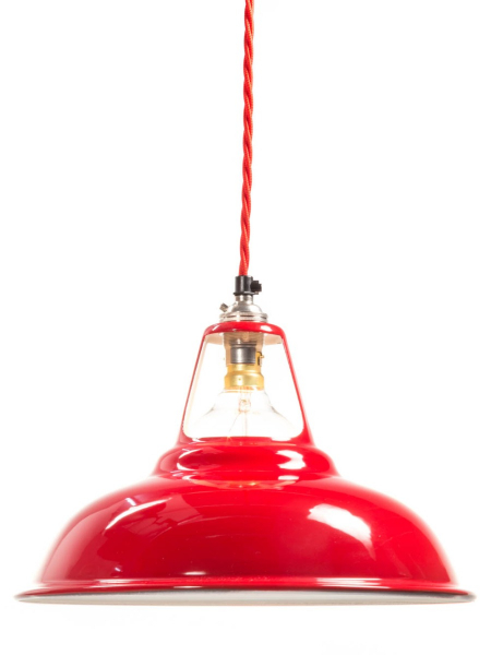 Red Enamel Coolicon Lamp Shade | 280mm | B22