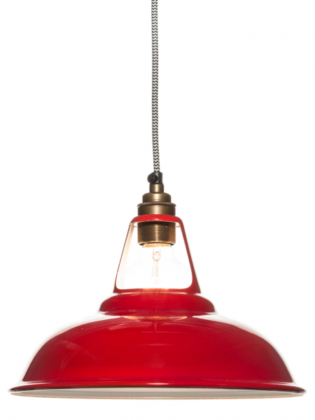 Red Enamel Coolicon Lamp Shade