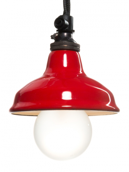 Red Enamel Miniature Lamp Shade 80mm