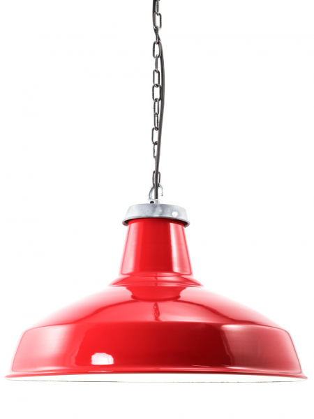 Red Enamel Reflector Lamp Shade 500mm