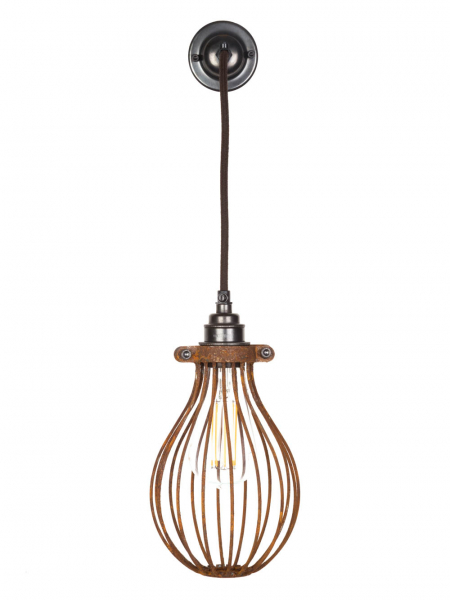 rusted balloon cage pendant light