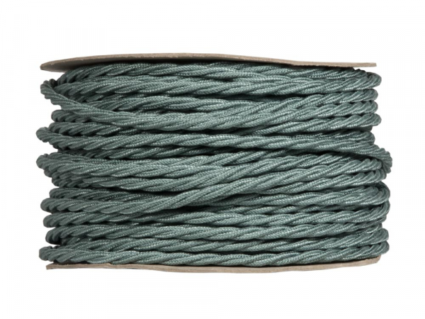 Sage Green Twisted Lighting Cable | 3 Core