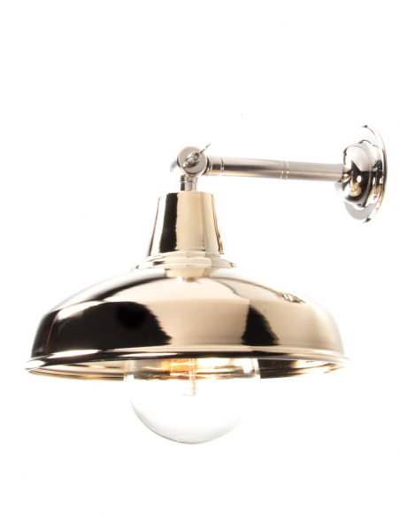 Maria Banjo Silver Wall Light Gold Shade