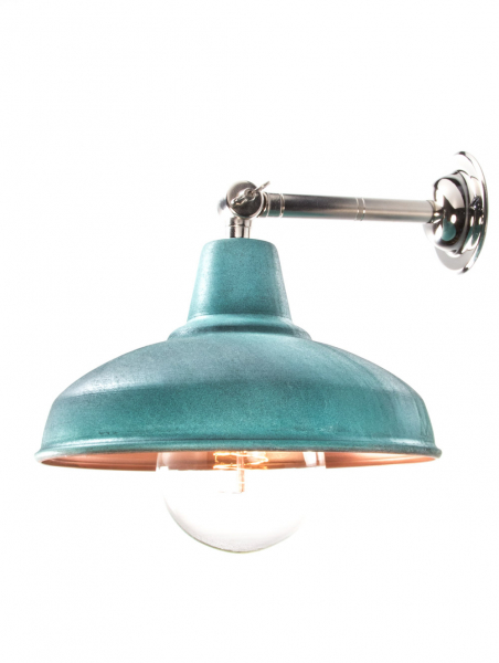 Maria Banjo Silver Wall Light Verdigris Shade