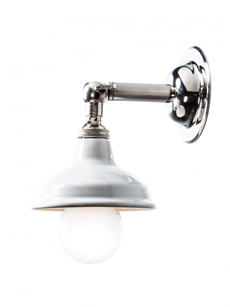silver sconce white shade