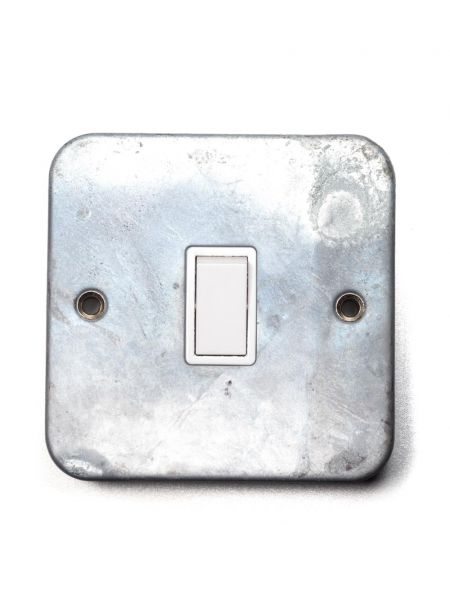 Galvanised Single Light Switch