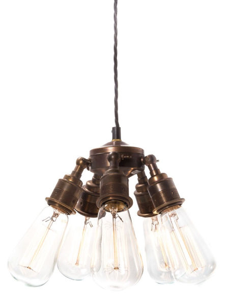 Brass Industrial Chandelier