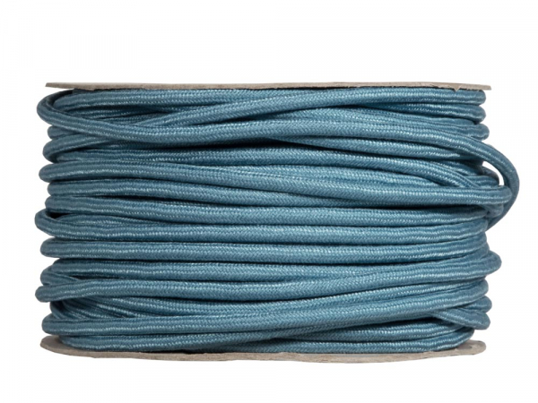 Teal Round Fabric Lighting Cable | 3 Core