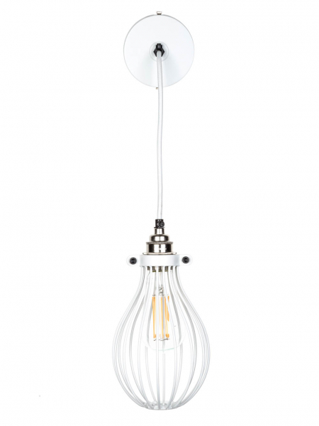 white balloon cage pendant light