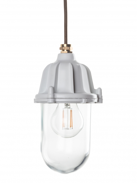 White Industrial Lantern | Outdoor and Bathroom Light