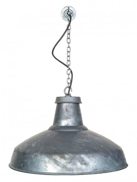 galvanised extra large reflector pendant light