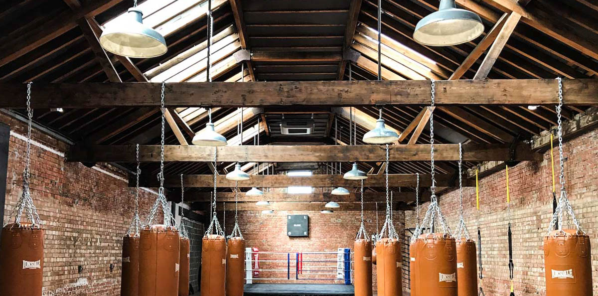 Blok Gym took a former Victorian tram depot and created a modern workout space. We were commissioned to supply lighting that was at once sympathetic to the ... & Gym Light Fixtures | Gymnasium Lighting Design | Urban Cottage ...