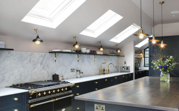 Matt Black Kitchen 190mm shade on Maria Banjo