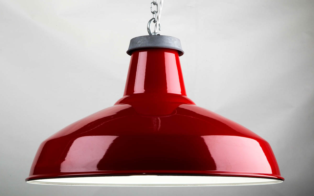 Factorylux red enamel reflector lampshade light shade urban red enamel reflector lamp shade 500mm audiocablefo